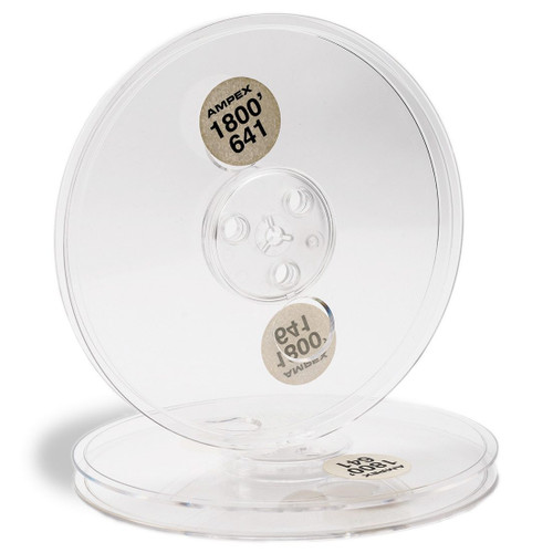 "AMPEX 0,25"" Plastic Reel; 7""/180mm transparent (SEP6026). Sepea Audio - Professional reel-to-reel tape recorders and accessories. Visit www.sepeaaudio.com"