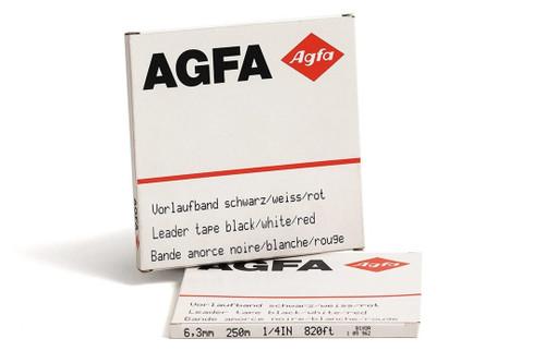 """AGFA Leader Tape 0,25""""; WHITE/RED/BLACK 820′ / 250m"""