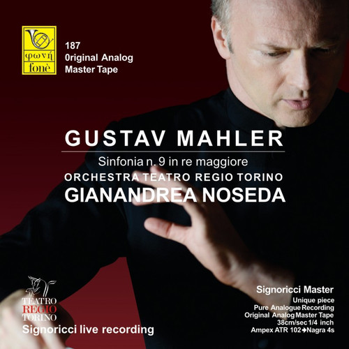 "Classical MASTER TAPE - Gianandrea Noseda, Gustav Mahler - Sinfonia n. 9 in RE maggiore. Fonè Records, original cat.# Fonè 187, format 3x 1/4"" RTM SM900 Tape set, Metal reel 10,5""/265mm, NAB Hub, 38 cm/s (15 ips), IEC eq. More info on www.sepeaaudio.com"