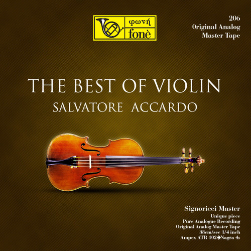 "Classical MASTER TAPE - Salvatore Accardo - Best of Violin. Fonè Records, original cat.# Fonè 206, format 1x 1/4"" RTM SM900 Tape set, Metal reel 10,5""/265mm, NAB Hub, 38 cm/s (15 ips), IEC eq. More info on www.sepeaaudio.com"
