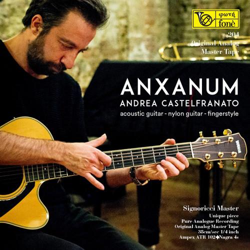 "Jazz MASTER TAPE - Anxanum - Andrea Castelfranato. Fonè Records, original cat.# Fonè 204, format 2x 1/4"" RTM SM900 Tape set, Metal reel 10,5""/265mm, NAB Hub, 38 cm/s (15 ips), IEC eq. More info on www.sepeaaudio.com"