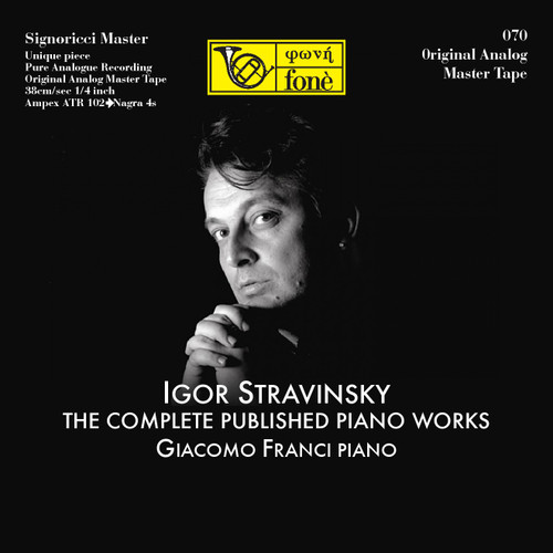 "Classical MASTER TAPE - I.Stravinsky - The Complete Published Piano Works. Fonè Records, original cat.# Fonè 070, format 5x 1/4"" RTM SM900 Tape set, Metal reel 10,5""/265mm, NAB Hub, 38 cm/s (15 ips), IEC eq. More info on www.sepeaaudio.com"