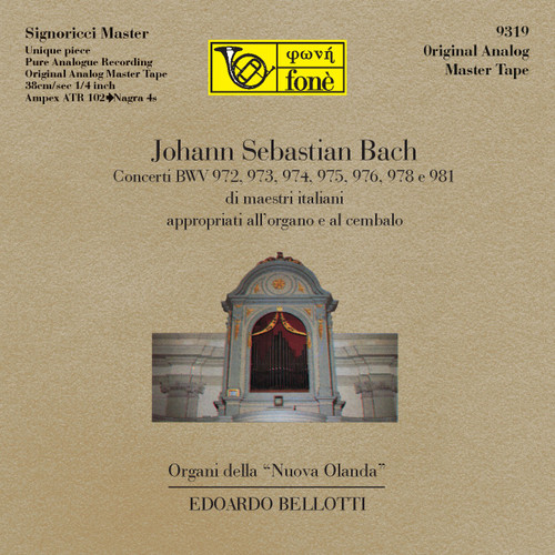 "Classical MASTER TAPE - Johann Sebastian Bach - Organi della Nuova Olanda. Fonè Records, original cat.# Fonè 9319, format 2x 1/4"" RTM SM900 Tape set, Metal reel 10,5""/265mm, NAB Hub, 38 cm/s (15 ips), IEC eq. More info on www.sepeaaudio.com"