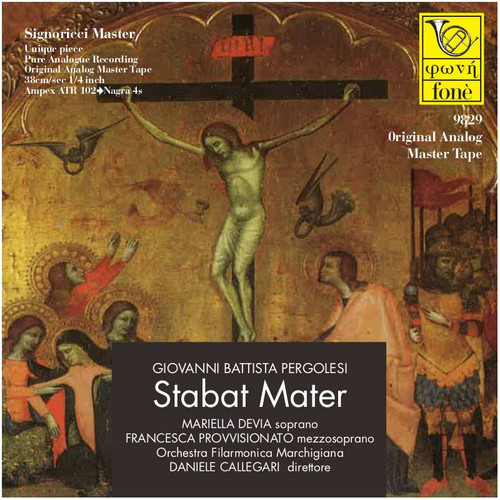 "Classical MASTER TAPE - Giovanni Battista Pergolesi - Stabat Mater. Fonè Records, original cat.# Fonè 9829, format 2x 1/4"" RTM SM900 Tape set, Metal reel 10,5""/265mm, NAB Hub, 38 cm/s (15 ips), IEC eq. More info on www.sepeaaudio.com"