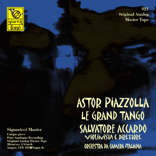 "Classical MASTER TAPE - Astor Piazzolla - La Grand Tango . Fonè Records, original cat.# Fonè 021, format 2x 1/4"" RTM SM900 Tape set, Metal reel 10,5""/265mm, NAB Hub, 38 cm/s (15 ips), IEC eq. More info on www.sepeaaudio.com"
