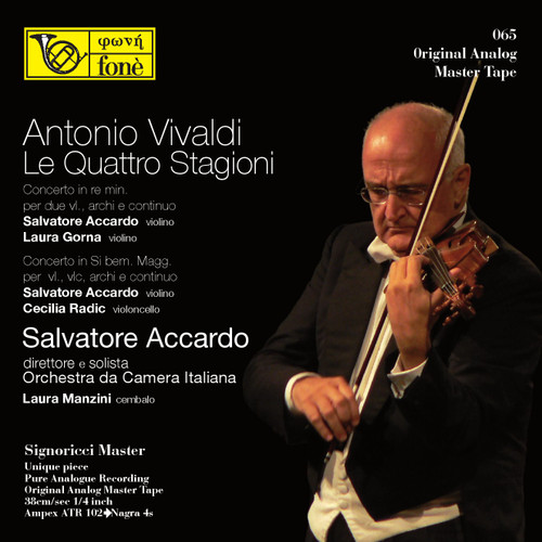 "Classical MASTER TAPE - Salvatore Accardo - Antonio Vivaldi, Le Quattro Stagioni. Fonè Records, original cat.# Fonè 065, format 2x 1/4"" RTM SM900 Tape set, Metal reel 10,5""/265mm, NAB Hub, 38 cm/s (15 ips), IEC eq. More info on www.sepeaaudio.com"