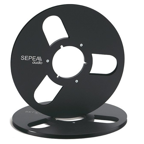 "SEPEA audio 1/4 inch Metal NAB Reel 10,5""/265mm black anodised aluminium (SEP6031). Reel Tape accessories sepeaaudio.com"