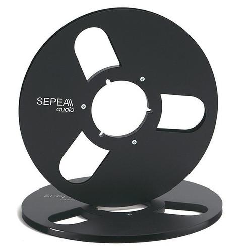"SEPEA audio 1/4 inch Metal NAB Reel 10,5""/265mm black anodised aluminium (SEP6031). Reel Tape accessories sepeaaudio.com"
