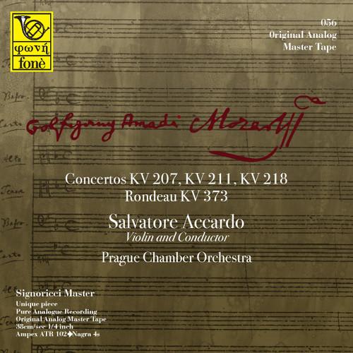 "Classical MASTER TAPE - Salvatore Accardo, Mozart - Concertos KV 207, 211, 218 . Fonè Records, original cat.# Fonè 056, format 3x 1/4"" RTM SM900 Tape set, Metal reel 10,5""/265mm, NAB Hub, 38 cm/s (15 ips), IEC eq. More info on www.sepeaaudio.com"
