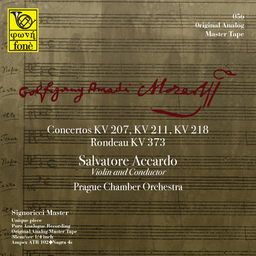 "Classical MASTER TAPE - Salvatore Accardo, Mozart - Concertos KV 207, 211, 218 . Fonè Records, original cat.# Fonè 056, format 3x 1/4"" RTM SM900 Tape set, Metal reel 10,5""/265mm, NAB Hub, 38 cm/s (15 ips), IEC eq. More info on www.sepeaaudio.com"