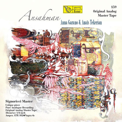 "Vocal MASTER TAPE - Ansahman; Anna Garano & Anais Tekerian. Fonè Records, original cat.# Fonè 159, format 1x 1/4"" RTM SM900 Tape set, Metal reel 10,5""/265mm, NAB Hub, 38 cm/s (15 ips), IEC eq. More info on www.sepeaaudio.com"