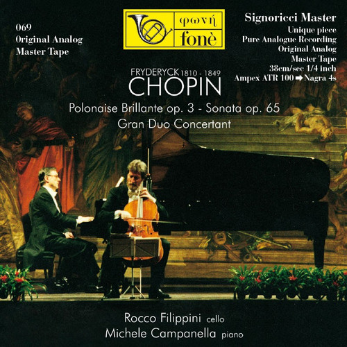 "Classical MASTER TAPE - Fryderyck Chopin (1810 / 1849) -  Filippini, Campanella. Fonè Records, original cat.# Fonè 069, format 2x 1/4"" RTM SM900 Tape set, Metal reel 10,5""/265mm, NAB Hub, 38 cm/s (15 ips), IEC eq. More info on www.sepeaaudio.com"