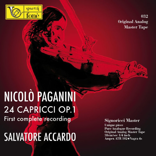 "Classical MASTER TAPE - Nicolò Paganni - 24 Capricci for violin solo OP.1. Fonè Records, original cat.# Fonè 032, format 4x 1/4"" RTM SM900 Tape set, Metal reel 10,5""/265mm, NAB Hub, 38 cm/s (15 ips), IEC eq. More info on www.sepeaaudio.com"