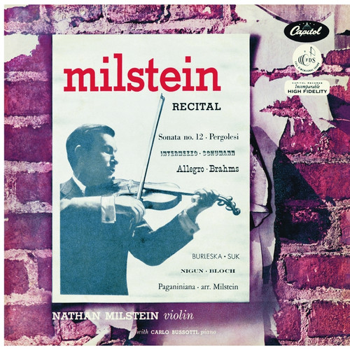 Classical  LP 180g - A Nathan Milstein Recital. Analogphonic CL43090, Cat.# Analogphonic LP43090, format 1LP 180g 33rpm. Barcode 8808678160901. More info on www.sepeaaudio.com