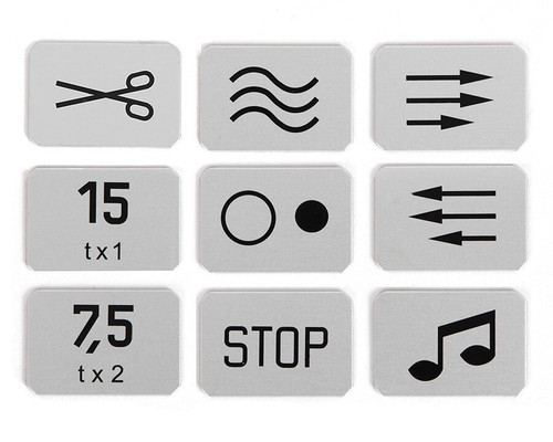 Studer C 37 Transport Button Symbols