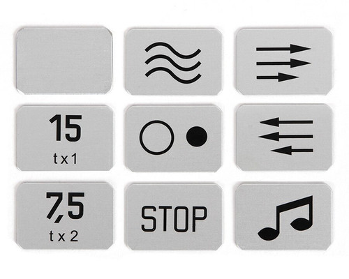 Studer J 37 Transport Button Symbols