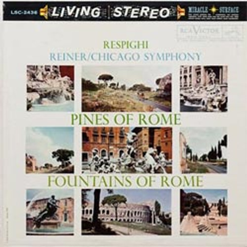 Classical  LP 200g - Respighi: Pines Of Rome & Fountains Of Rome. Acoustic Sounds AS243633, Cat.# AS AAPC 2436-33, format 1LP 200g 33rpm. Barcode 0753088243615. More info on www.sepeaaudio.com