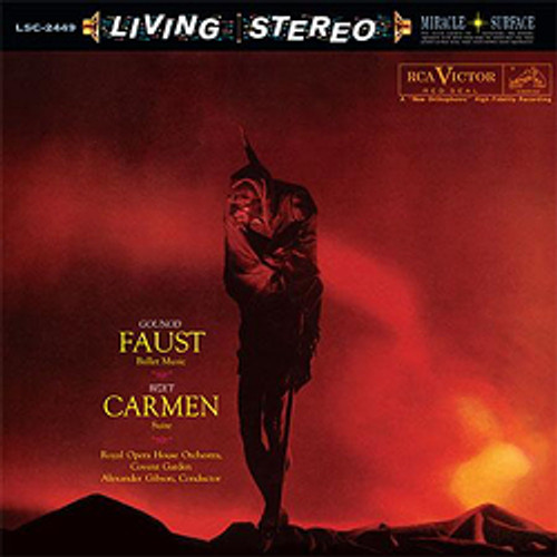 Classical  LP 200g - Gounod: Faust / Bizet: Carmen. Acoustic Sounds AS2449, Cat.# AS AAPC 2449-33, format 1LP 200g 33rpm. Barcode 0753088244919. More info on www.sepeaaudio.com