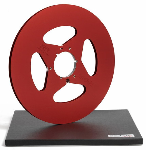 """Scotch 0,25"""" Metal NAB Reel 14""""/360mm red anodized - used"""
