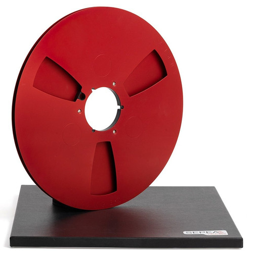 "AMPEX 0,25"" Metal NAB Reel 14"" / 360mm red anodized - used"
