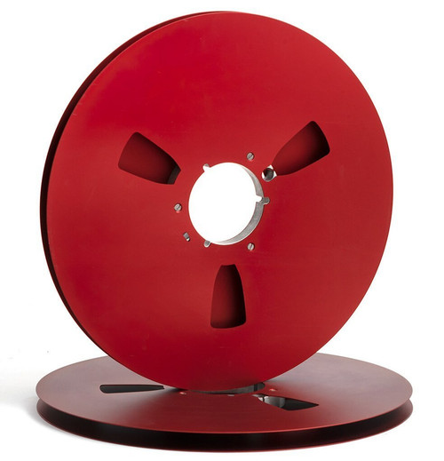 """SEPEA 0,5"""" Metal NAB Reel 14"""" / 360mm red anodized - used"""