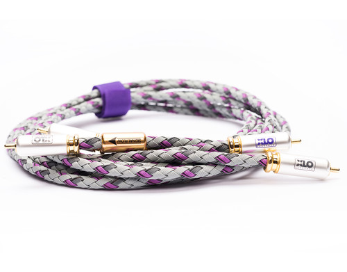 XLO Signature 3-1 2m Single Ended RCA Audio Interconnect Cable (Textile XLO Bag) (xlo-s3-1-2m-b)
