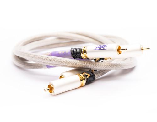 XLO Signature 3-3s 2m RCA Shielded Phono Audio Cable (Textile XLO Bag) (xlo-s3-3s-1m-b)