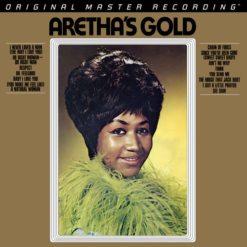 Aretha Franklin Aretha Franklin - Aretha's Gold  (1x Numbered Hybrid SACD) Pop Jazz SACD. MoFi - Mobile Fidelity Sound Lab UDSACD2142. EAN 821797214261. Release date 01.01.1969. More info on www.sepeaaudio.com