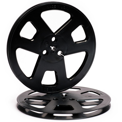 "Shamrock 0,25"" Plastic Reel; 7""/180mm black - used. Sepea Audio - Professional reel-to-reel tape recorders and accessories. Visit www.sepeaaudio.com"