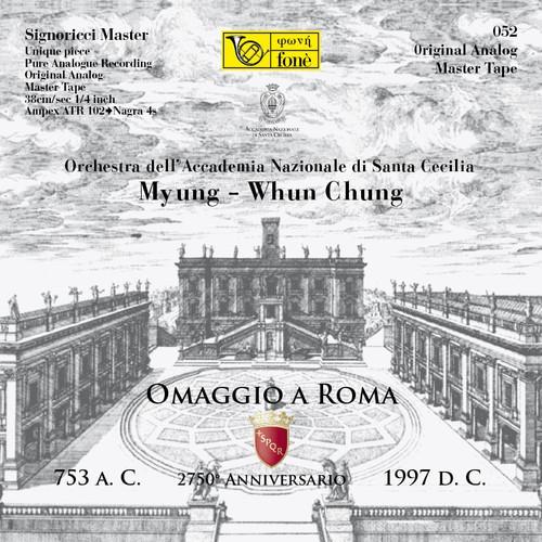 "Classical MASTER TAPE - OMAGGIO A ROMA, MYUNG-WHUN CHUNG. Fonè Records, original cat.# Fonè 052, format 2x 1/4"" RTM SM900 Tape set, Metal reel 10,5""/265mm, NAB Hub, 38 cm/s (15 ips), IEC eq. More info on www.sepeaaudio.com"