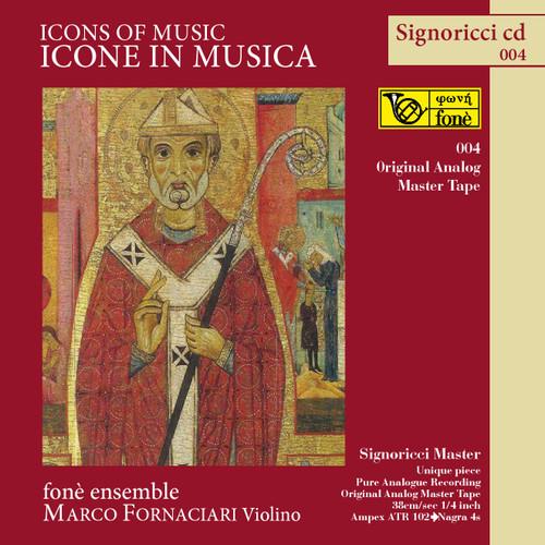 "Classical MASTER TAPE - ICONE IN MUSICA. Fonè Records, original cat.# Fonè 004, format 3x 1/4"" RTM SM900 Tape set, Metal reel 10,5""/265mm, NAB Hub, 38 cm/s (15 ips), IEC eq. More info on www.sepeaaudio.com"
