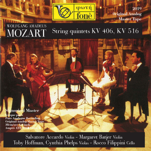 "Classical MASTER TAPE - W.A. MOZART STRING QUINTETS KV406, KV516. Fonè Records, original cat.# Fonè 2019, format 3x 1/4"" RTM SM900 Tape set, Metal reel 10,5""/265mm, NAB Hub, 38 cm/s (15 ips), IEC eq. More info on www.sepeaaudio.com"