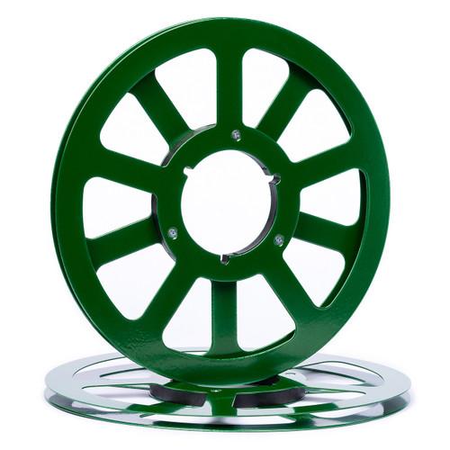 """SEPEA 1/4"""" Metal NAB Reel M1 10,5""""/265mm dark green gloss - used. Reel Tape accessories sepeaaudio.com"""