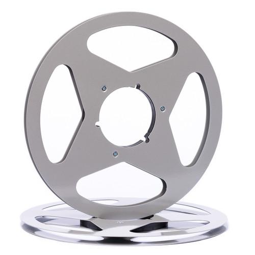 """SEPEA 1/4"""" Metal NAB Reel M2 10,5""""/265mm dark silver gloss - used. Reel Tape accessories sepeaaudio.com"""