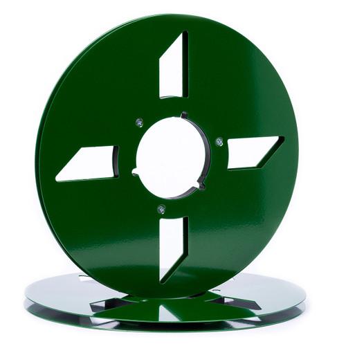 """SEPEA 1/4"""" Metal NAB Reel M10 10,5""""/265mm dark green gloss - used. Reel Tape accessories sepeaaudio.com"""