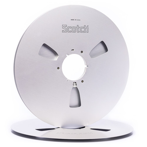 "Scotch 1/4"" Metal NAB Reel M1 14""/360mm silver anodized - used. Visit sepeaaudio.com for more information."