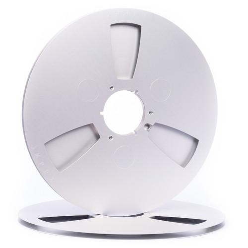 """AMPEX 1/4"""" Metal NAB Reel M1 14"""" / 360mm silver anodized - use. Find details on sepeaaudio.com"""