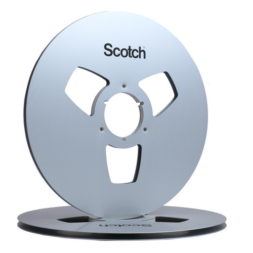 "Scotch 0,25"" Metal NAB Reel 14""/360mm silver anodized - used. Visit sepeaaudio.com for more information."