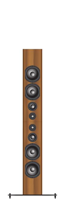 Bryston Middle T Rex Double 3-way Active Floorstanding Loudspeakers