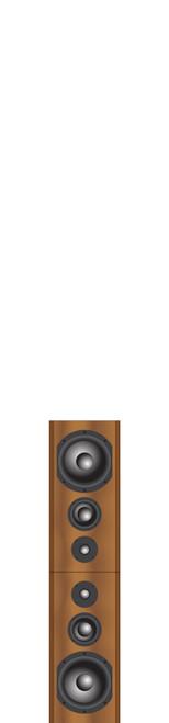 Bryston Mini T Rex Double 3-way Active Floor-stand Loudspeakers