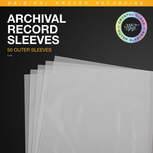 Mofi Record Outer Sleeves Pack (50 x Plastic Outer Sleeves for LP)