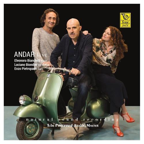 Bianchini, Biondini, Pietropaoli, ANDAR LIVE, Bianchini, Biondini, Pietropaoli (1x 180g Super Audiophile Vinyl - MADE in USA) Jazz LP. Fonè Records FoneLP145A. EAN 9780201314519.