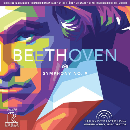 Beethoven: Symphony No. 9, Pittsburgh Symphony/ Manfred Honeck HDCD - Reference Recordings FR-741SACD