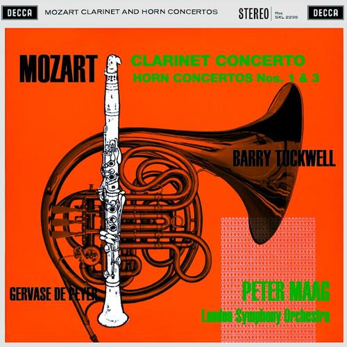 Classical  LP 180g - Mozart: Clarinet Concerto. Speakers Corner 2238, Cat.# Decca SXL 2238, format 1LP 180g 33rpm. Barcode 4260019710239. More info on www.sepeaaudio.com