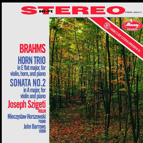 Classical  LP 180g - Brahms: Horn Trio, Sonata No. 2. Speakers Corner 90210, Cat.# Mercury SR90210, format 1LP 180g 33rpm. Barcode 4260019712523. More info on www.sepeaaudio.com