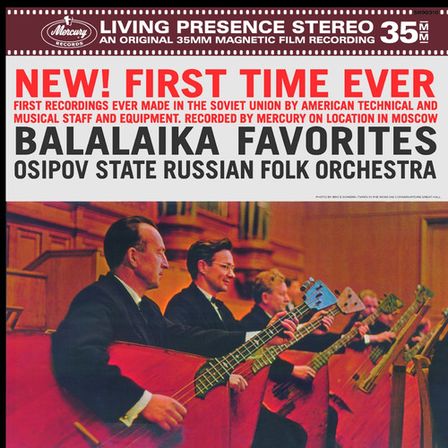 Classical  LP 180g - Balalaika Favorites. Speakers Corner 90310, Cat.# Mercury SR90310, format 1LP 180g 33rpm. Barcode 4260019714633. More info on www.sepeaaudio.com