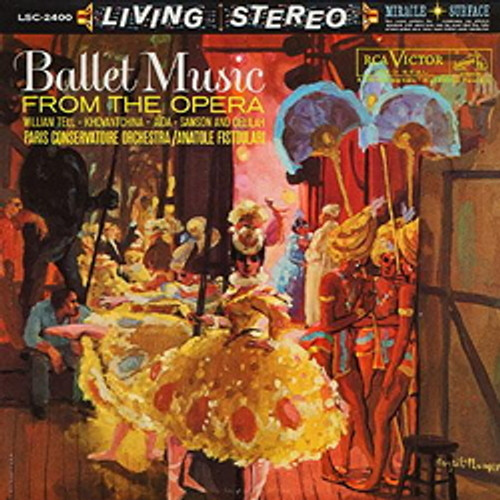 Classical  LP 200g - Ballet Music From The Opera. Acoustic Sounds AS2400, Cat.# AS AAPC 2400-33, format 1LP 200g 33rpm. Barcode 0753088240010. More info on www.sepeaaudio.com