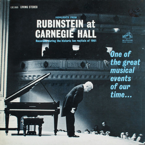 0753088260513 LP 200g - Highlights From Rubinstein at Carnegie Hall. Acoustic Sounds AS260533, Cat.# AS AAPC 2605-33, format 1LP 200g 33rpm. Barcode Classical . More info on www.sepeaaudio.com