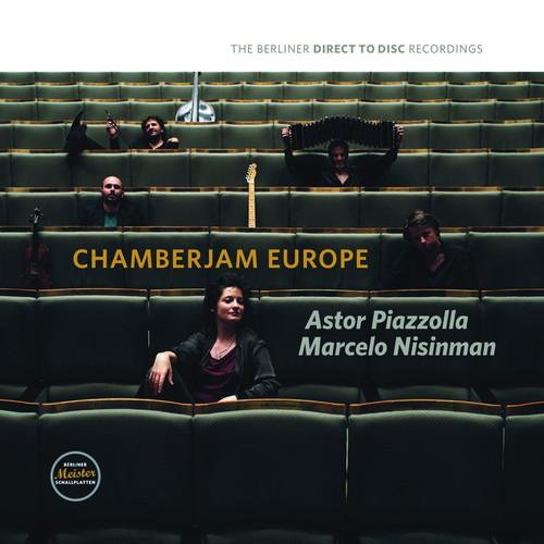 Pop LP 180g - Chamberjam Europe: Astor Piazzolla & Marcelo Nisinman. Berliner Meister Schallplatten BM1714, Cat.# BMS 1714 V, format 1LP 180g 33rpm. Barcode 4260428070146. More info on www.sepeaaudio.com