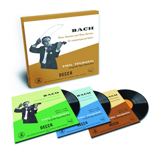 8808678161267 LP 180g - Bach: Partitas & Sonatas for unaccompanied violin. Analogphonic CL43126, Cat.# Analogphonic LP 43126, format 3LPs 180g 33rpm. Barcode Classical . More info on www.sepeaaudio.com
